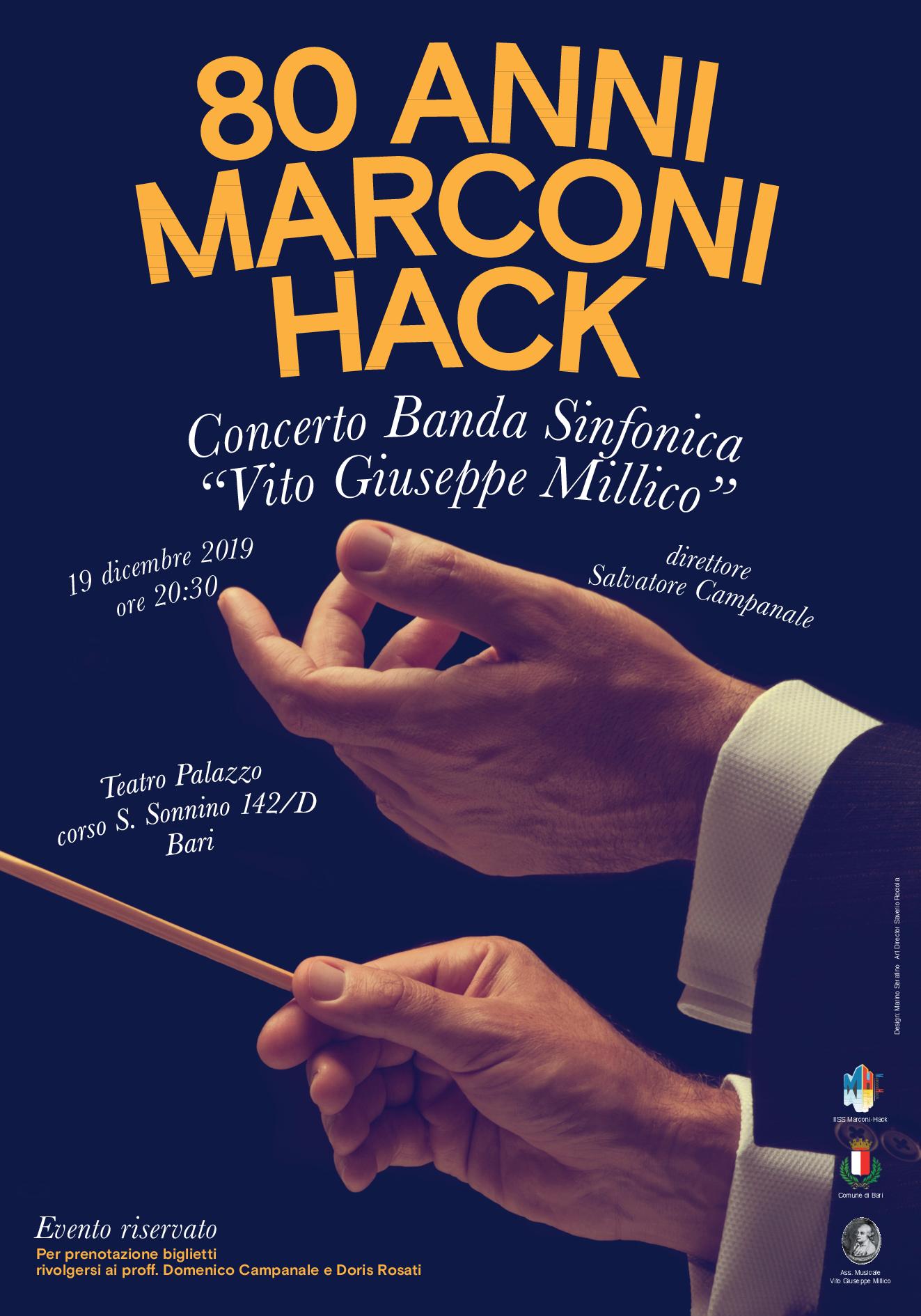 Locandina concerto 80 anni