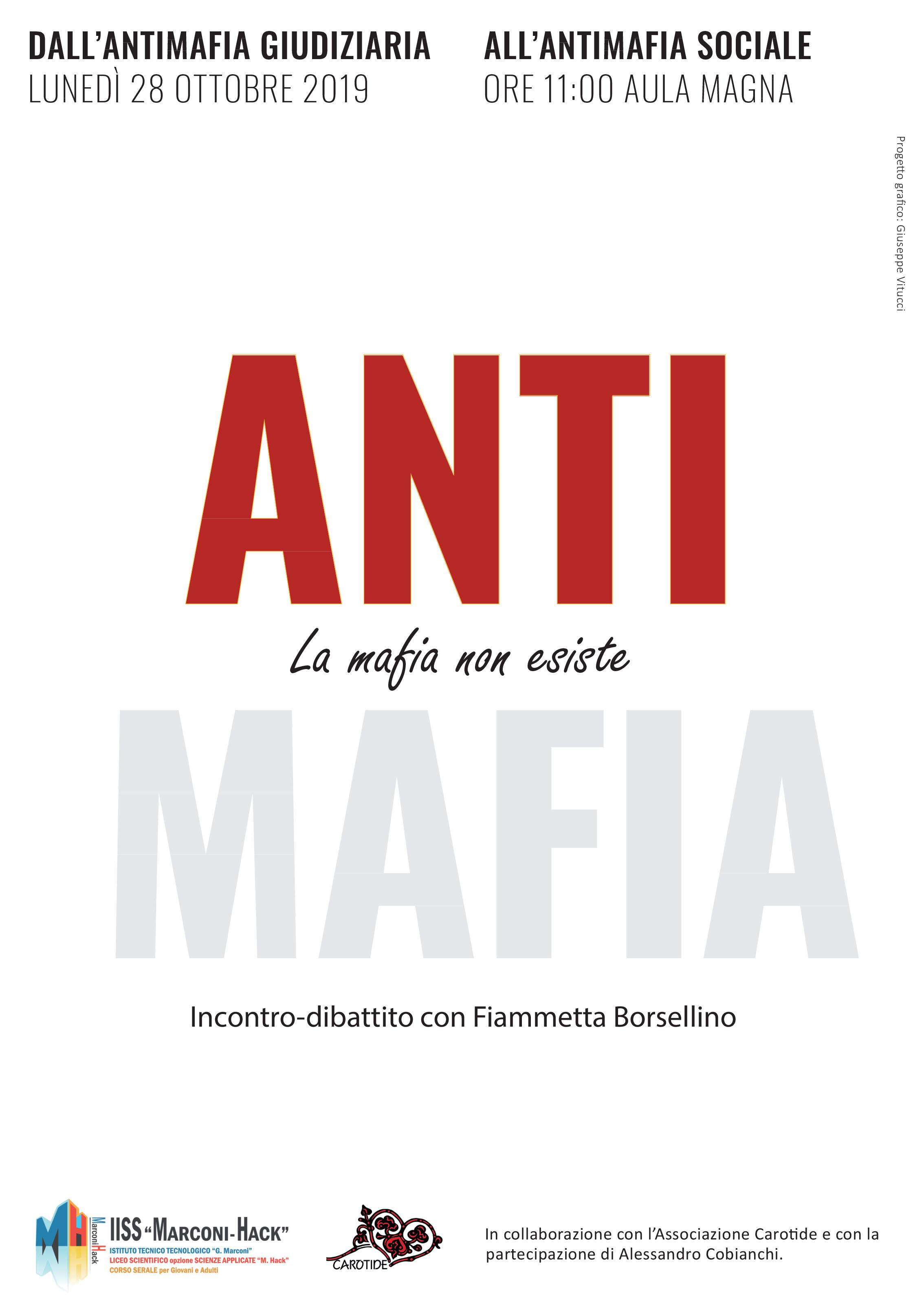 Locandina evento incontro con Fiammetta Borsellino