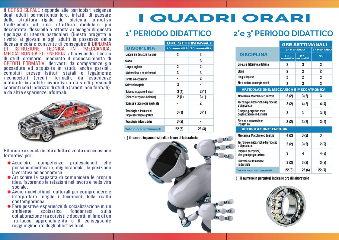 Brochure corso serale Marconi Bari - Fare click per scaricare