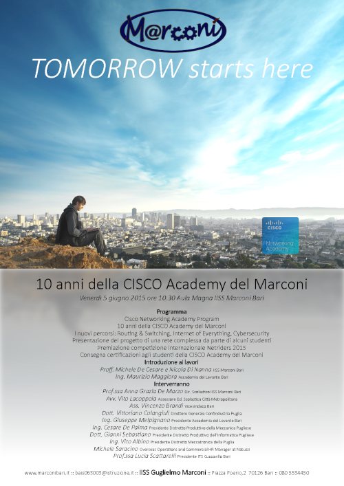 Locandina evento Tomorrow CISCO