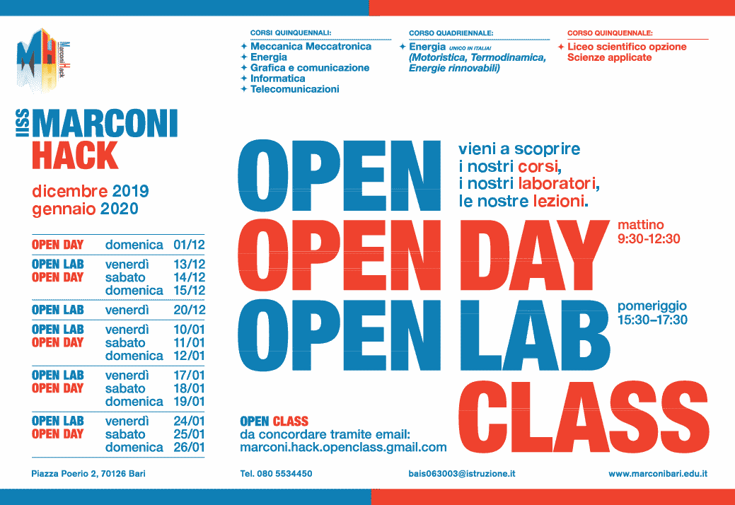 Open Day Marconi-Hack 2020